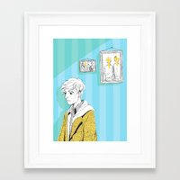 kieren walker Framed Art Prints featuring In The Flesh - Kieren  by Cy-lindric