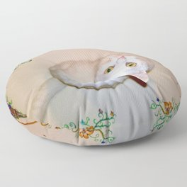 Tyche the white sweet princess Floor Pillow