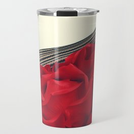 She's a Lady - Surreal Rose Portrait with Sexy Legs Travel Mug