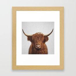 Highland Cow - Colorful Framed Art Print