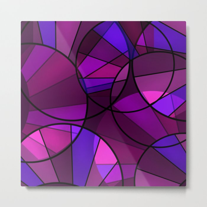 Colorful purple and blue pattern . Metal Print