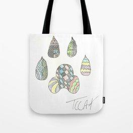 Mosaic Pawprint Tote Bag