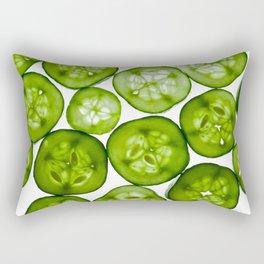 Fresh Yummy Cucumbers Rectangular Pillow