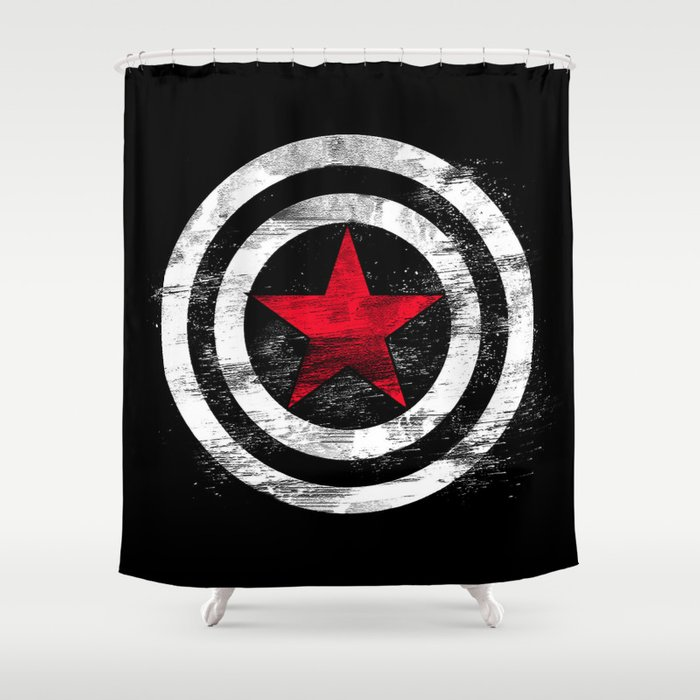 Winter Soldier Shower Curtain By Greenline Society6