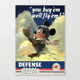 WWII Mouse Canvas Print