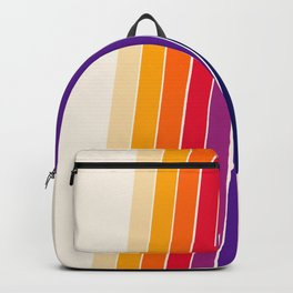 Awe Yeah - 70s style retro throwback 1970s rainbow colorful trendy graphic art Backpack