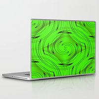 lime green Laptop & iPad Skins featuring Lime Green by Sartoris ART