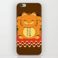 garfield iPhone & iPod Skins featuring Lucky Garfield by Ashley Hay