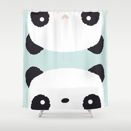 Panda in love Shower Curtain