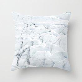 White winter glacier icelandic landscape photography Throw Pillow