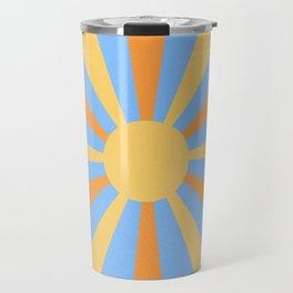 yellow and orange sunshine Travel Mug