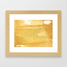 Sandy brown abstract wash painting Framed Art Print