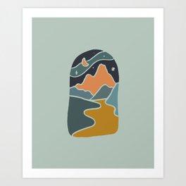 Lunar Hills Art Print