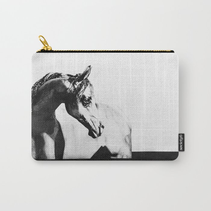 The point of knowing how to draw a horse Carry-All Pouch by jennieljungeskog