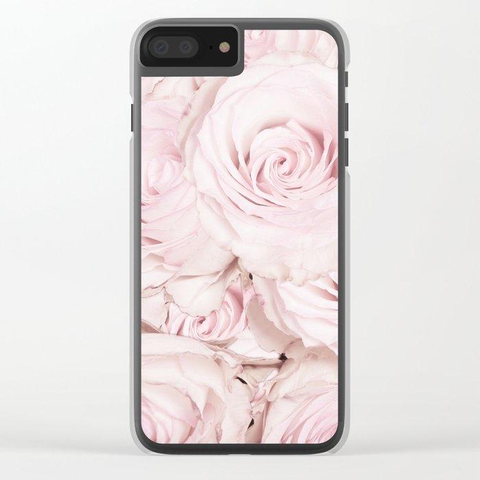 Roses have thorns - Floral Flower Pink Rose Flowers Clear iPhone Case