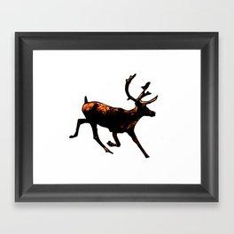 The Mighty Moose Mongoose Reindeer Elk Rentier Caribou Framed Art Print
