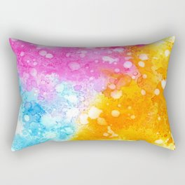 Colorful abstract in watercolor Rectangular Pillow