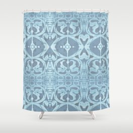 San Lorenzo Blue Shower Curtain