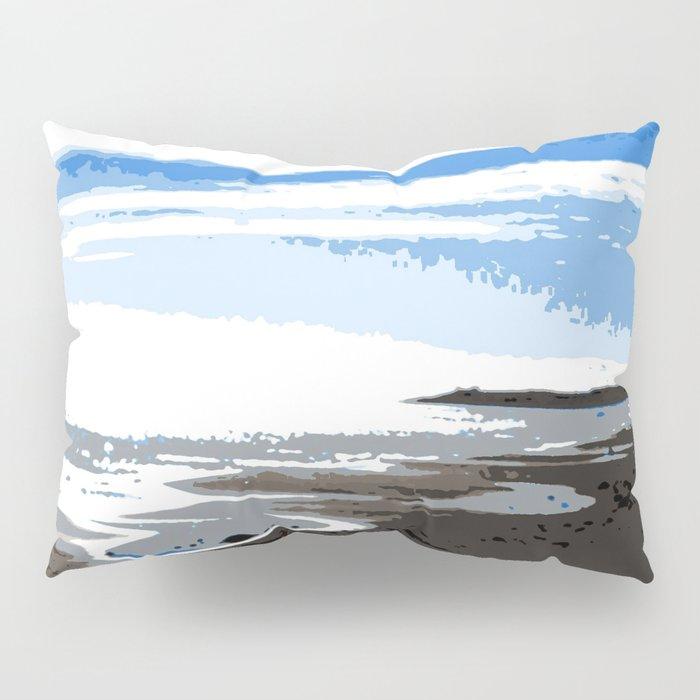 Blue sky at the beach Pillow Sham