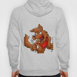 Big bad cartoon wolf. Hoody