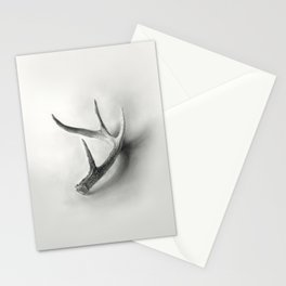 Lost and Found - Deer Antler Pencil Drawing Stationery Cards