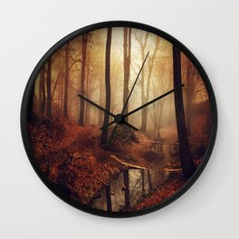 Forest Creek At Sunrise Wall Clock