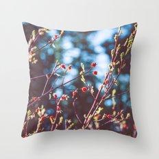 Berries at the Lake  Throw Pillow