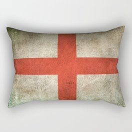 Old and Worn Distressed Vintage Flag of England Rectangular Pillow