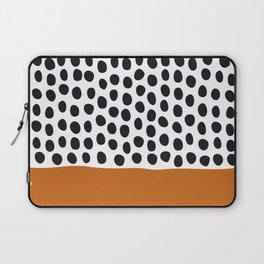 Classy Handpainted Polka Dots with Autumn Maple Laptop Sleeve