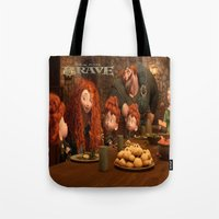 be brave Tote Bags featuring Brave by store2u