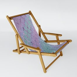 Mermaid Princess Glitter Scales Glam #1 #shiny #stripes #decor #art #society6 Sling Chair