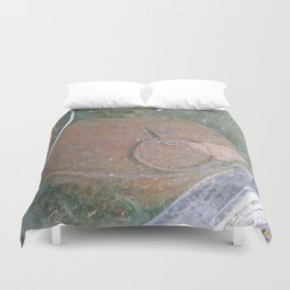 Antique Road Flare in Barn Window Duvet Cover