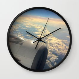 Sun And Clouds From Plane Wall Clock