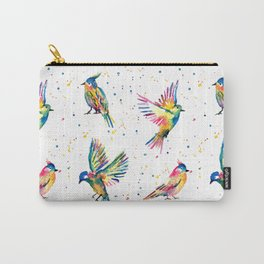Four Colorful Birds Carry-All Pouch