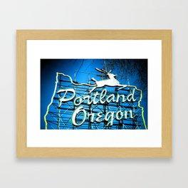 PDX Framed Art Print