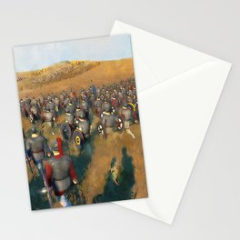 Medieval Army in Battle Stationery Cards