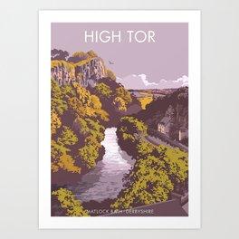 High Tor Matlock Bath Derbyshire Art Print