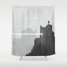 Pixel Art Landscape 005 Shower Curtain