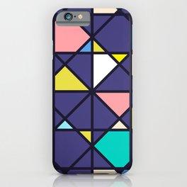 Geometric Architectural Design Kaleidoscope Colored Pattern iPhone Case