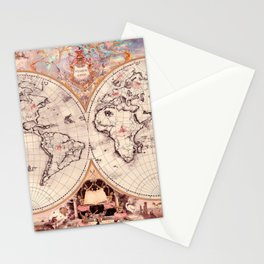 Wizarding Around the World Map Stationery Cards