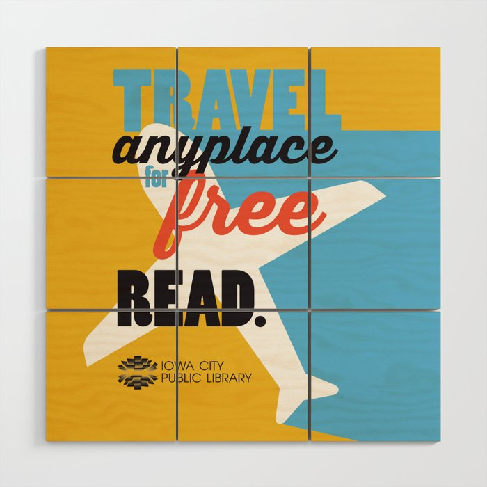Travel - Iowa City Public Library Wood Wall Art by ...