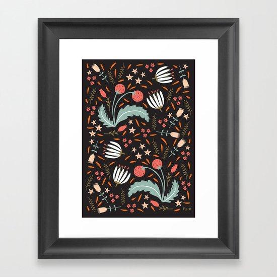 Floral Fusion Framed Art Print