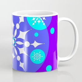 A Winter Snowy Design with Pretty Snowflakes Coffee Mug