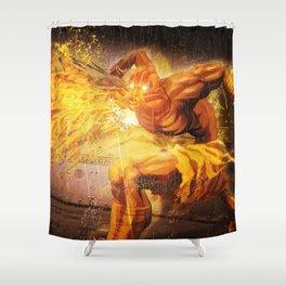 Dhalsim Shower Curtain