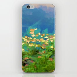 Autumn leaves on water 5 iPhone Skin