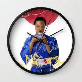 Asian Lotus Wall Clock