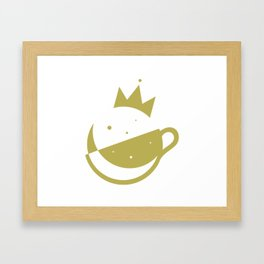 Self-Care Queen - Gold Framed Art Print