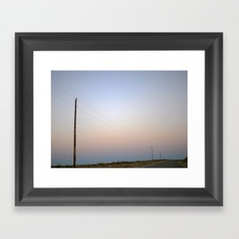 Electric Lines Framed Art Print