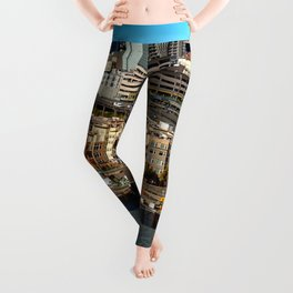 Seattle Space Needle and Aquarium Leggings