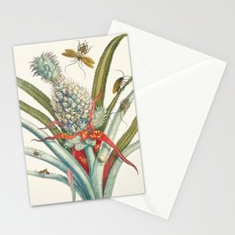 Vintage Pineapple Botanical Print Stationery Cards
